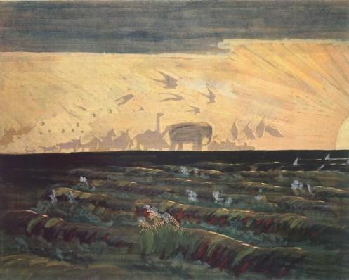 """""""Saulės pagarbinimas"""". M. K. Čiurlionis"""